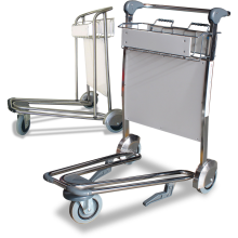 3-Wheel Airport Trolleys (Stainless Steel) Astrolift