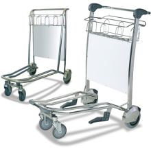 4-Wheel Airport Trolleys (Stainless Steel) Astrolift