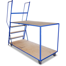 Order-picking Trolley (2 Shelf - Plywood with Steps) Astrolift