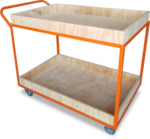 Order-picking Trolley (2 Shelf - Plywood) Astrolift