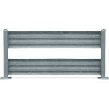 Traffic Barrier Double - GuardX (Galvanised) Astrolift