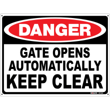 Gate Opens Automatically Keep Clear Astrolift