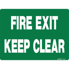 Fire Exit Keep Clear Astrolift