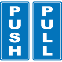 Push Pull (Vertical) Stickers Astrolift