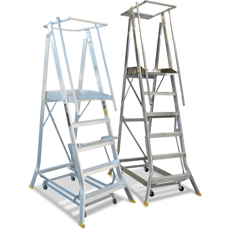 Platform Ladders - Wheeled-Chassis