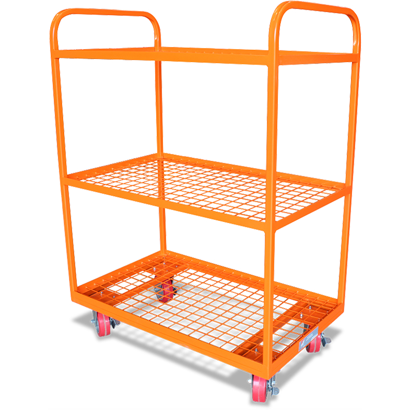 Order-picking Trolley (3-shelf Steel Mesh)